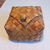 Русский стиль ручной работы. Ярмарка Мастеров - ручная работа Хлебница из бересты с крышкой-клапаном. Handmade.