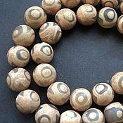 Материалы для творчества handmade. Livemaster - original item Dzi agate smooth beads 12mm. Handmade.