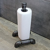 Для дома и интерьера handmade. Livemaster - original item Table Paper Towel Holder Made of Pipes in loft Style. Handmade.