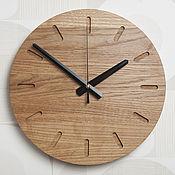 Часы классические ручной работы. Ярмарка Мастеров - ручная работа Часы настенные из дуба (№5). Handmade.
