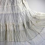 Одежда ручной работы. Ярмарка Мастеров - ручная работа Юбка белая шелковая  макси. Handmade.