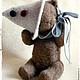 Мишки Тедди ручной работы. котёнок Фантик. Марианна Пташинская. Ярмарка Мастеров. Кот, шляпа, опилки