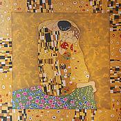 Аксессуары handmade. Livemaster - original item Scarf the Kiss of Klimt at work. Handmade.
