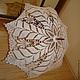 Зонты ручной работы. Ярмарка Мастеров - ручная работа. Купить Вязаный ажурный зонт. Handmade. Белый, вязаный, трость
