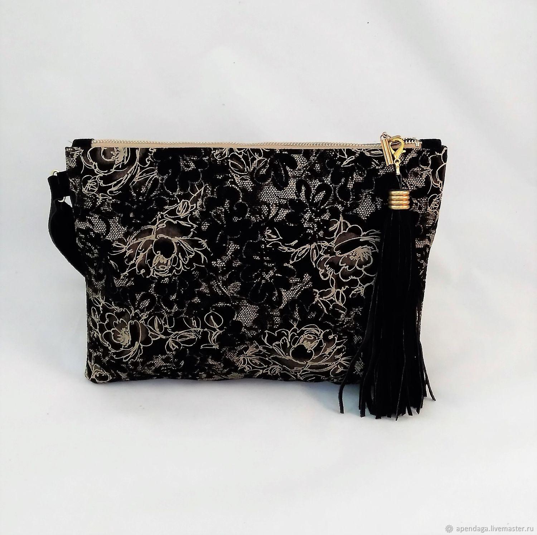2ccb2b1f9970 Handbags handmade. Livemaster - handmade. Buy Clutch bag made from black  suede  Night ...