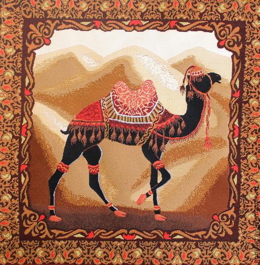 Шитье ручной работы. Ярмарка Мастеров - ручная работа. Купить Восток верблюд: гобеленовая заготовка без оверлока, 50-50 см. Handmade.