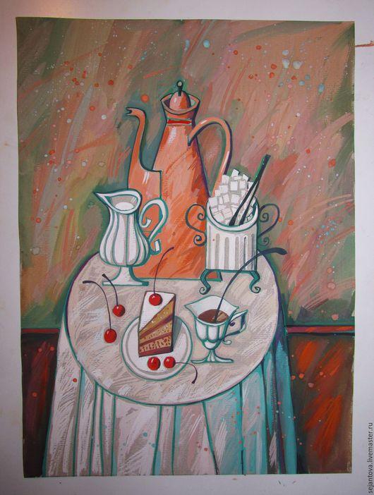"""Натюрморт ручной работы. Ярмарка Мастеров - ручная работа. Купить """"последний кусочек -тебе"""". Handmade. Картина в подарок, картина для интерьера"""
