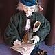 Портретные куклы ручной работы. Аптекарь. Вета Дробжева (vetadoll). Ярмарка Мастеров. Исторический костюм, портретная кукла, стекло