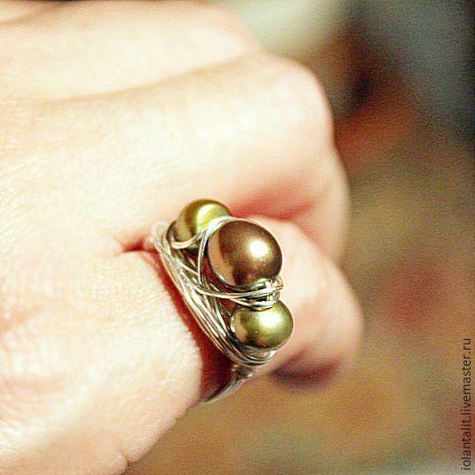 Серебряное кольцо с жемчугом, Кольца, Санкт-Петербург, Фото №1