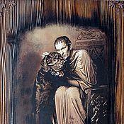 """Картины и панно handmade. Livemaster - original item """" Зеркало души...""""Панно, картина,Понтий Пилат,панно настенное. Handmade."""