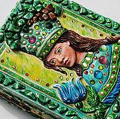 """Для дома и интерьера ручной работы. Ярмарка Мастеров - ручная работа Шкатулка """"хозяйка медной горы"""". Handmade."""