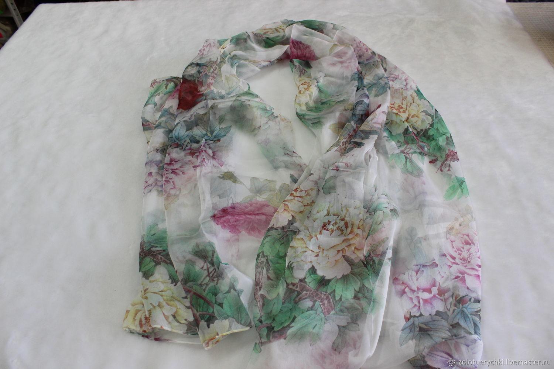 Шёлковый шарф - палантин, , Омск, Фото №1