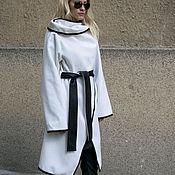Одежда ручной работы. Ярмарка Мастеров - ручная работа Aссиметричное пальто с высоким воротником/Зимнее пальто F1619. Handmade.