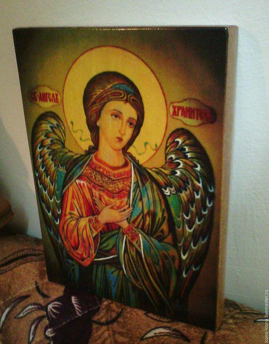 Иконы ручной работы. Ярмарка Мастеров - ручная работа. Купить Ангел Хранитель - писаные иконы горячими красками на дерево. Handmade.