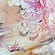 Картина  `Нежная вуаль лепестков` пионы фрагмент