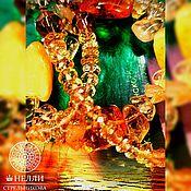 Фен-шуй и эзотерика handmade. Livemaster - original item Gorgeous necklace made of natural citrine and amber.. Handmade.