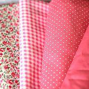 Материалы для творчества ручной работы. Ярмарка Мастеров - ручная работа Набор тканей Розовый нежный. Handmade.
