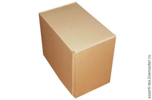 Упаковка ручной работы. Ярмарка Мастеров - ручная работа. Купить Самосборная почтовая коробка 445х270х380 тип А. Handmade. Бежевый