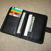 Wallets handmade. Livemaster - original item Double-layer leather cover for passport or car documents. Handmade.