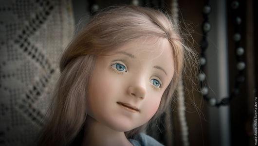 Коллекционные куклы ручной работы. Ярмарка Мастеров - ручная работа. Купить Позднее утро. Handmade. Голубой, трессы