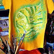 """Одежда ручной работы. Ярмарка Мастеров - ручная работа Футболка """"Прекрасная зеленая"""". Handmade."""