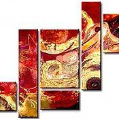 Картины и панно ручной работы. Ярмарка Мастеров - ручная работа Многомодульная картина-абстракция. Handmade.