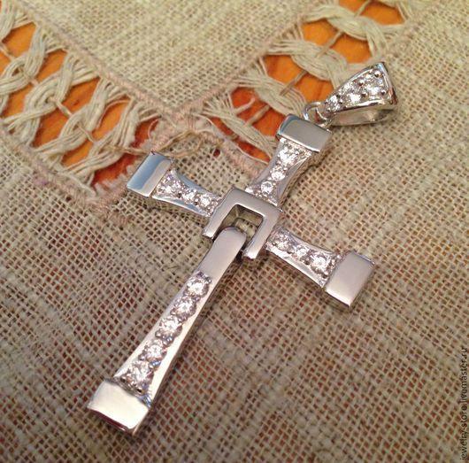 Для украшений ручной работы. Ярмарка Мастеров - ручная работа. Купить Кулон крест Форсаж (серебро 925). Handmade. Серебряный