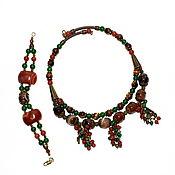Украшения handmade. Livemaster - original item Necklace and bracelet made of natural stones (sardonyx, carnelian..). Handmade.