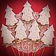 """Кулинарные сувениры ручной работы. Ярмарка Мастеров - ручная работа. Купить """"Silver forest"""" новогодние пряники - козули. Handmade. Белый"""
