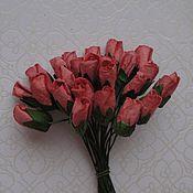 Материалы для творчества ручной работы. Ярмарка Мастеров - ручная работа 4 расцветки Розы бутоны 6-7 мм 5 штук. Handmade.