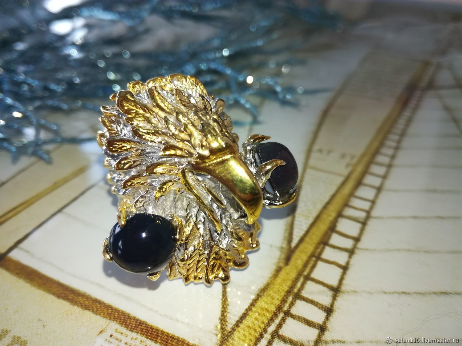 Raven ring with black opals, Rings, Voronezh,  Фото №1