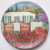 Посуда ручной работы. Ярмарка Мастеров - ручная работа Тарелка декоративная Итальянский дворик. Handmade.
