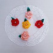 Материалы для творчества handmade. Livemaster - original item Knitted flowers.. Handmade.