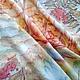Батик платок `Рябинка`, натуральный шёлк, 65-65 см., авторская работа Марины Маховской.