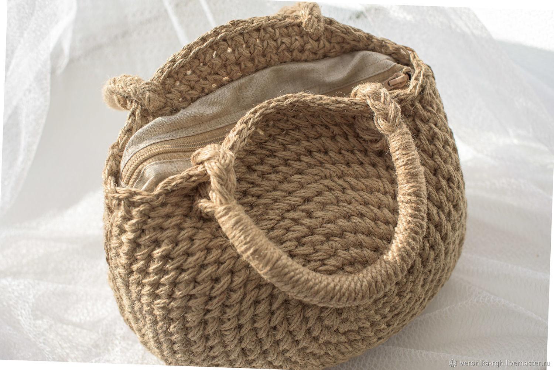 Сумка из джута, Классическая сумка, Котлас,  Фото №1