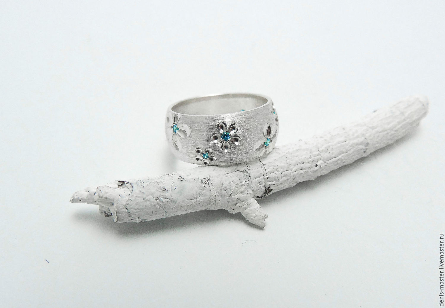 silver ring 'spring in the city 3'(silver, stones), Rings, Yaroslavl,  Фото №1