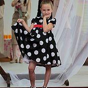 Платье ручной работы. Ярмарка Мастеров - ручная работа Детское платье в горошек. Handmade.