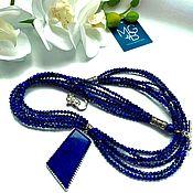 Украшения handmade. Livemaster - original item Lapis lazuli necklace