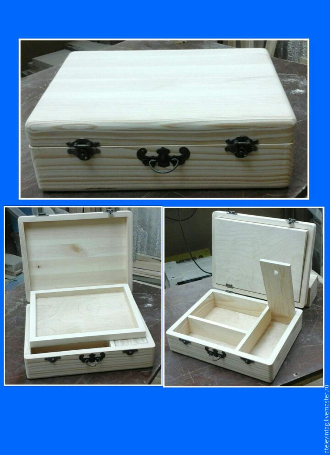 Suitcase for crafts, harvesting 065, Blanks for decoupage and painting, Tula,  Фото №1