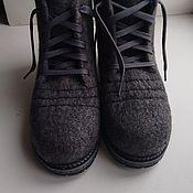 """Обувь ручной работы. Ярмарка Мастеров - ручная работа Ботинки валяные """"Steel"""". Handmade."""