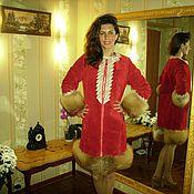 Одежда ручной работы. Ярмарка Мастеров - ручная работа Пальто из замша с кружевом. Авторская модель. Handmade.
