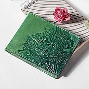 Сумки и аксессуары handmade. Livemaster - original item Wallet, cardholders made of leather with embossed