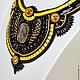 """Колье, бусы ручной работы. Ярмарка Мастеров - ручная работа. Купить Черная Птица (Серия """"Черный +""""). Handmade. Черный"""