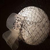 """Аксессуары ручной работы. Ярмарка Мастеров - ручная работа Мини-шляпка """"Чёрное и белое"""". Handmade."""