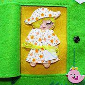 """Куклы и игрушки ручной работы. Ярмарка Мастеров - ручная работа Развивающая Книжка из фетр """"Кукольный домик"""". Handmade."""