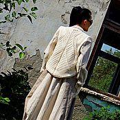 Одежда ручной работы. Ярмарка Мастеров - ручная работа Костюм женский из льна и хлопковой пряжи в стиле БОХО (№185). Handmade.