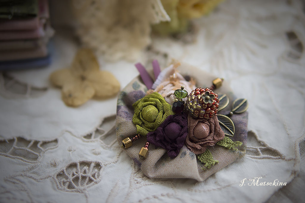 Brooch flowers, Flowers, Brooches, Moscow,  Фото №1