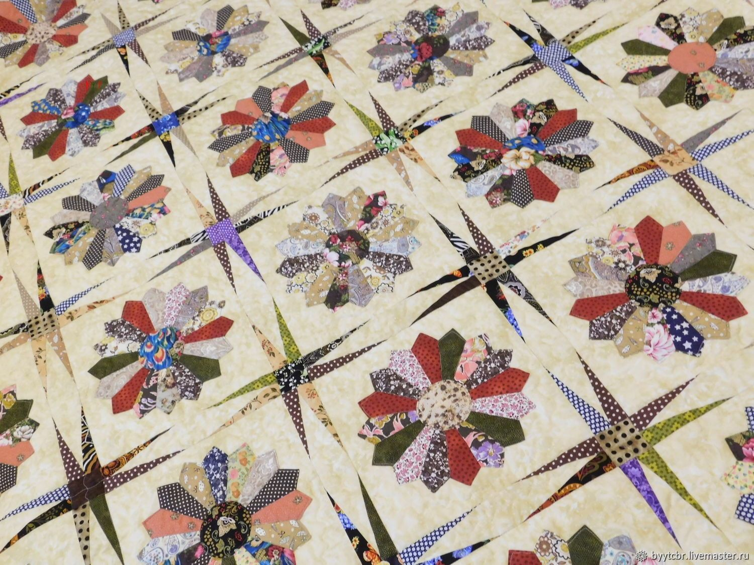 Patchwork bedspread AUTUMN SKETCH, Bedspreads, Moscow,  Фото №1