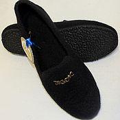 Обувь ручной работы. Ярмарка Мастеров - ручная работа Валянные туфли для офиса. Handmade.