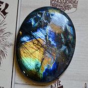 Кабошоны ручной работы. Ярмарка Мастеров - ручная работа Лабрадорит спектролит. Кабошон 54 Х 40 Х 7. Handmade.